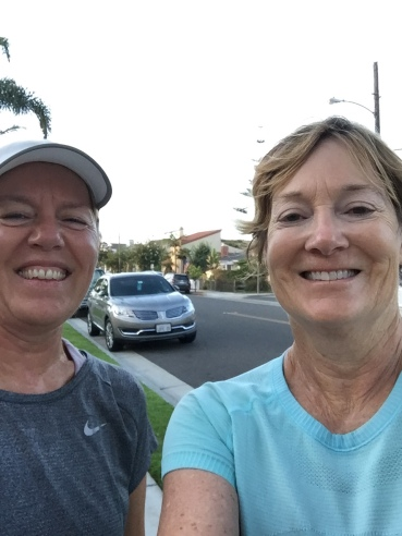 Sandi and Alison post run