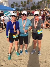 The three finishers, not too bad for the wear. By the way, Alison and I placed first in our respective age groups.